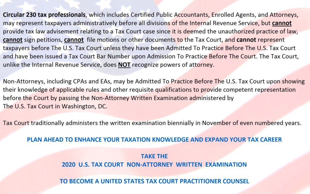 About The Tax Court Exam Tax Facts USTCP Online ClassesTax